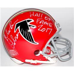 "Morten Andersen Signed Falcons Mini Helmet Inscribed ""Hall of Fame 2017"" (Radtke COA)"