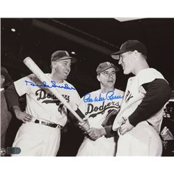 Duke Snider  Pee Wee Reese Signed Brooklyn Dodgers 8x10 Photo (AI Verified COA)
