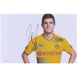 Christian Pulisic Signed Borussia Dortmund 8x12 Photo (JSA COA)