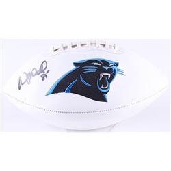 Wesley Walls Signed Panthers Logo Football (Radtke Hologram)