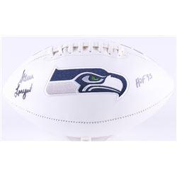 "Steve Largent Signed Seahawks Logo Football Inscribed ""HOF 95"" (Radtke Hologram)"