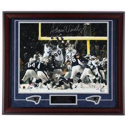 Adam Vinatieri Signed Patriots 23x27 Custom Framed Photo Display (JSA COA)