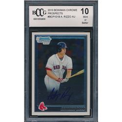 2010 Bowman Chrome Prospects #BCP101B Anthony Rizzo AU (BCCG 10)