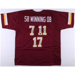 Mark Rypien, Joe Theismann  Doug Williams Signed Redskins Jersey With (3) Super Bowl Inscriptions (R