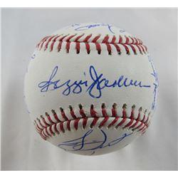1978 Yankees OML Baseball Team-Signed by (21) with Reggie Jackson, Roy White, Ron Davis, Graig Nettl