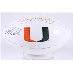 Greg Olsen Signed Miami Hurricanes Logo Football (Radtke COA)