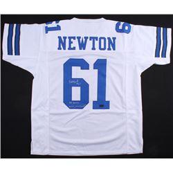 """Nate Newton Signed Cowboys Jersey Inscribed """"SB XXVII, XXVIII, XXX Champs"""" (JSA COA)"""