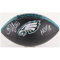 "Brian Dawkins Signed Eagles Logo Football Inscribed ""HOF '18"" (JSA COA)"