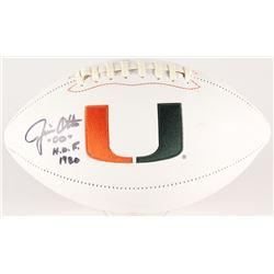 "Jim Otto Signed Miami Hurricanes Logo Football Inscribed ""H.O.F. 1980"" (Radtke COA)"