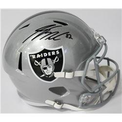 Jordy Nelson Signed Raiders Full-Size Speed Helmet (JSA COA)