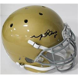 Manti Te'o Signed Notre Dame Fighting Irish Authentic On-Field Full-Size Helmet (Beckett COA)