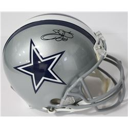 Emmitt Smith Signed Cowboys Authentic On-Field Full-Size Helmet (Beckett COA  PROVA Hologram)