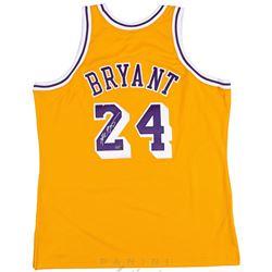 Kobe Bryant Signed 2008 Throwback Lakers Jersey (Panini COA)