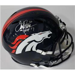 "Terrell Davis Signed Broncos Full-Size Speed Helmet Inscribed ""HOF 17"" (Radtke COA)"