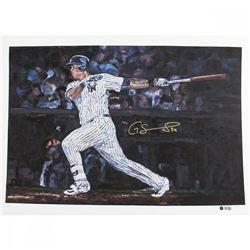 Gary Sanchez Signed Yankees 22x30 LE Hintz Studios Fine Art Print (Steiner COA)