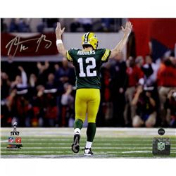 """Aaron Rodgers Signed Packers """"Super Bowl XLV"""" 8x10 Photo (Steiner COA)"""