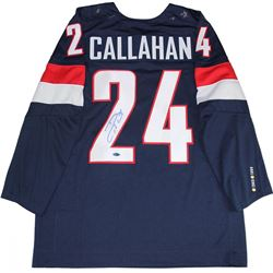 Ryan Callahan Signed Team USA Jersey (Steiner COA)
