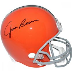 Jim Brown Signed Browns Full Size Throwback Helmet (Steiner COA  Fanatics)