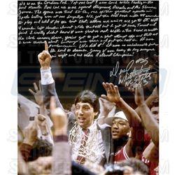"""Dereck Whittenburg Signed NCAA Championship 16x20 Photo Inscribed """"NC State '1983'"""" (Steiner COA)"""