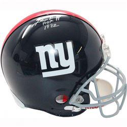 """Sam Huff Signed Giants Full Size Helmet Inscribed """"HOF 1982"""" (Steiner COA)"""