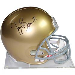 Tim Brown Signed Notre Dame Fighting Irish Full Size Authentic Proline Helmet (Steiner COA)