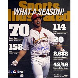 """Mark McGwire Signed Cardinals LE 16x20 Photo Inscribed """"70 HR 98"""" (Steiner COA)"""
