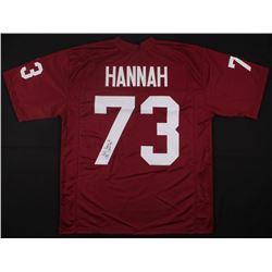 "John Hannah Signed Alabama Crimson Tide Jersey Inscribed ""CHOF 99"" (JSA COA)"