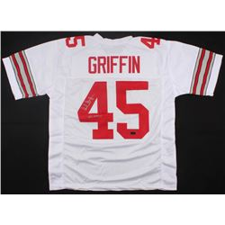 """Archie Griffin Signed Ohio State Buckeyes Jersey Inscribed """"H.T 1974/75"""" (Radtke Hologram)"""