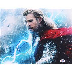 "Chris Hemsworth Signed ""Thor: The Dark World"" 11x14 Photo (PSA COA)"