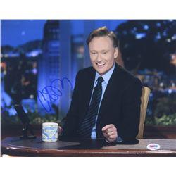 """Conan O'Brien Signed """"Conan"""" 11x14 Photo (PSA COA)"""