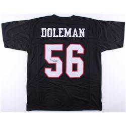 "Chris Doleman Signed Falcons Jersey Inscribed ""HOF 12"" (JSA COA)"