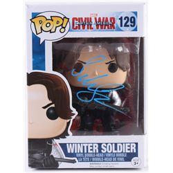 "Sebastian Stan Signed ""Captain America: Civil War"" Winter Soldier #129 Funko Pop Vinyl Figure (PSA C"
