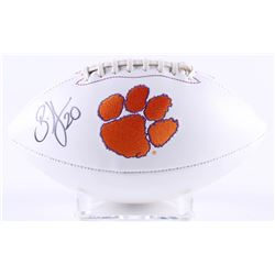 Brian Dawkins Signed Clemson Tigers Logo Football (JSA COA)