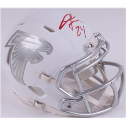 Devonta Freeman Signed Falcons White ICE Mini-Helmet (Radtke COA)