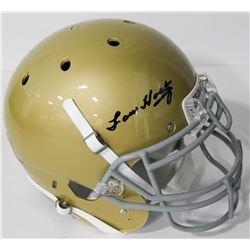Lou Holtz Signed Notre Dame Fighting Irish Authentic On-Field Full-Size Helmet (Beckett COA)