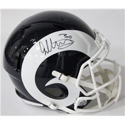 Todd Gurley Signed Rams Full-Size Speed Helmet (Beckett COA)