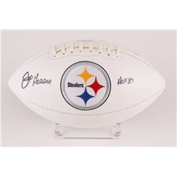 "Joe Greene Signed Steelers Logo Football Inscribed ""HOF 87"" (Radtke COA)"