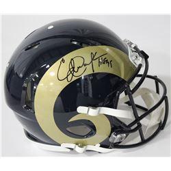 "Eric Dickerson Signed Rams Authentic On-Field Full-Size Speed Helmet Inscribed ""HOF 95"" (JSA COA)"