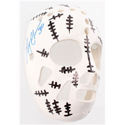 "Gerry Cheevers Signed Mini 5.5"" Ceramic Goalie Mask (JSA COA)"