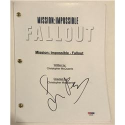 "Simon Pegg Signed ""Mission: Impossible - Fallout"" Full Movie Script (PSA COA)"