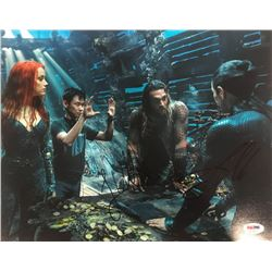 "Jason Momoa  James Wan Signed ""Aquaman"" 11x14 Photo (PSA COA)"
