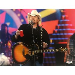 Toby Keith Signed 11x14 Photo (PSA COA)