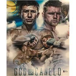 "Canelo Alvarez Signed ""GGG vs Canelo"" 11x14 Photo (Beckett COA)"