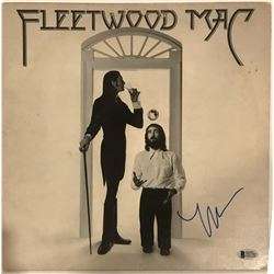 "Lindsey Buckingham Signed Fleetwood Mac ""Fleetwood Mac"" Record Album Cover (Beckett COA)"