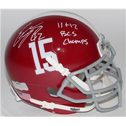 "Eddie Lacy Signed Alabama Crimson Tide Mini-Helmet Inscribed ""11+12 BCS Champs"" (Radtke COA  Lacy Ho"