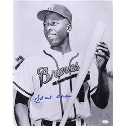 Hank Aaron Signed Braves 16x20 Photo (JSA COA)