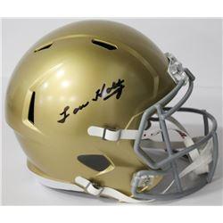 Lou Holtz Signed Notre Dame Fighting Irish Full-Size Speed Helmet (Beckett COA)