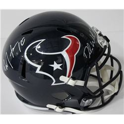 Deshaun Watson  DeAndre Hopkins Signed Texans Full-Size Speed Helmet (Beckett COA)