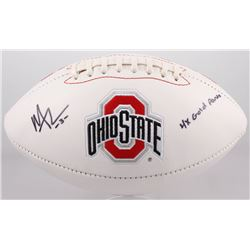 """Michael Thomas Signed Ohio State Buckeyes Logo Football Inscribed """"4X Gold Points"""" (Sports Collectib"""
