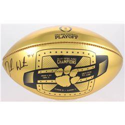 Deshaun Watson Signed LE 2017 National Championship Clemson Tigers Gold Leather Football (PSA COA)